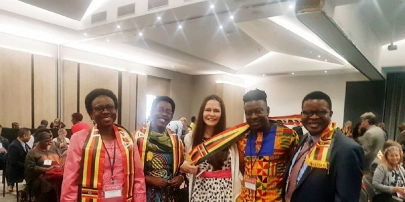 Team Uganda led by Minister for Health, Hon. Dr. Jane Ruth Aceng recognized for data use in guiding progress in health outcomes during COP 2019.